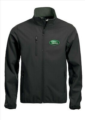 LAND ROVER Quality Softshell Jacket Coat Black Embroidered Sizes S-5XL