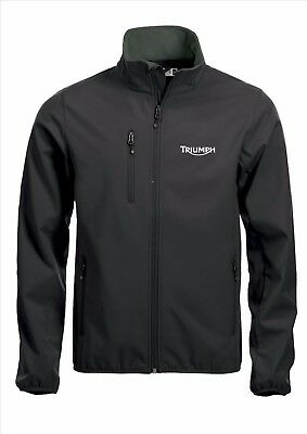 TRIUMPH Quality Softshell Jacket Coat Black Embroidered Sizes S-5XL