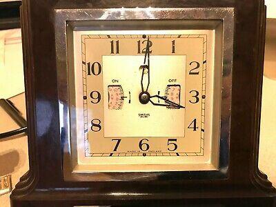 Vintage Smiths electric clock radio gramophone alarm bakelite Sectric art deco