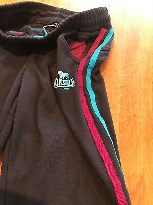 Girls Lonsdale jogging bottoms - 9-10 Years