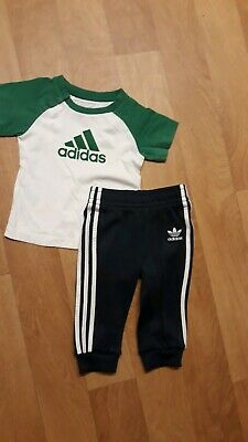Baby Boys Adidas Originals Tracksuit Bottoms and t Shirt AGE 6-9 Months
