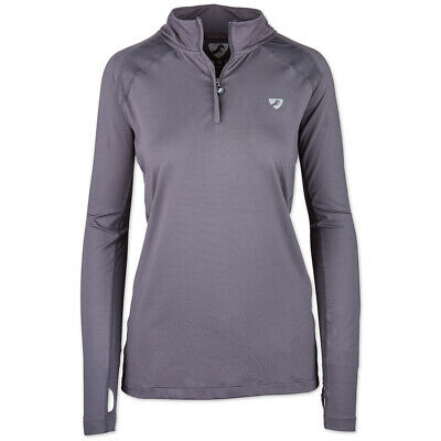 Shires Equestrian Aubrion Tipton Base Layer Long Sleeve. Grey or Black Extra Sm