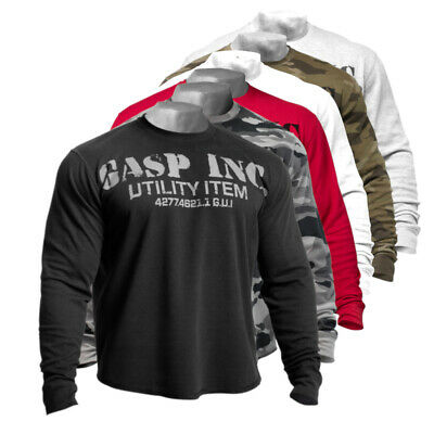 GASP Thermal Gym Sweater Fitness Bodybuilding Gym Wear Sweatshirt Pullover