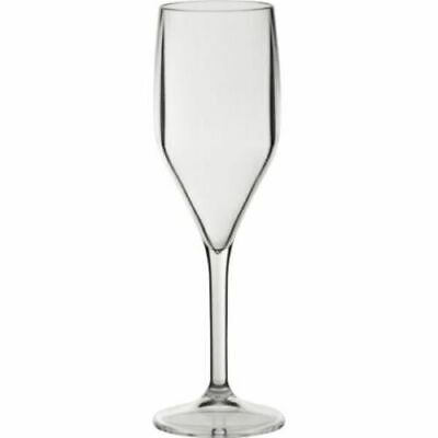 30 Pack Luxury Reusable Plastic Glassware Champagne Flute Glass 150ml 500 Washes