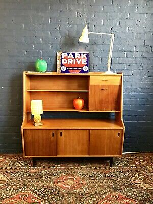 VTG Mid Century 1960's White & Newton Teak Highboard Sideboard Retro