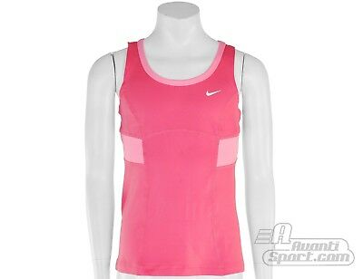 Nike Tennis Girls Bubblegum Pink Tank Top XS RRP £24.99 (Age 6-8)