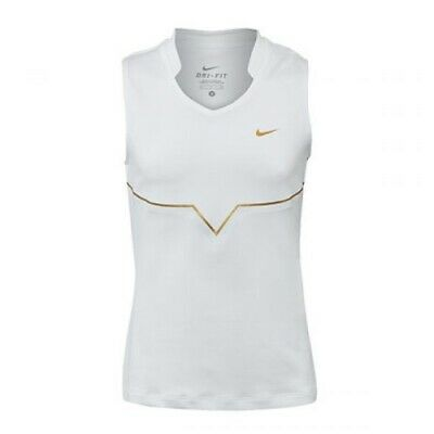 Nike Girls White/Gold Tennis Sharapova Top Size Girls Medium (10-12 Years)