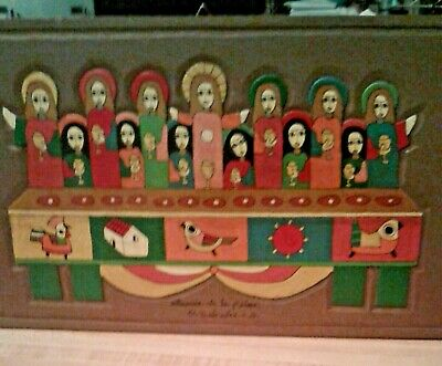 The Last Supper Artisan Wood  Work Carved  N Painted