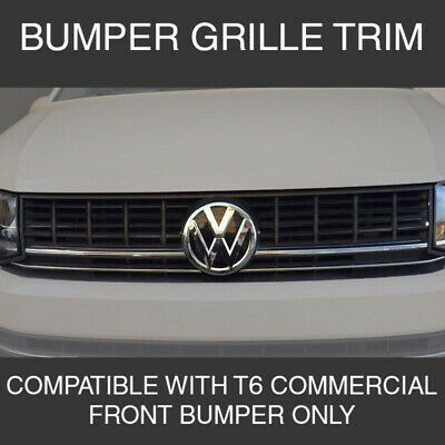 Front Lower Grille Trims For VW T6 Transporter Stainless Steel
