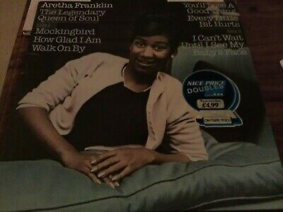 ARETHA FRANKLIN THE LEGENDARY QUEEN OF SOUL 2 LPs CBS 22112 STEREO LP