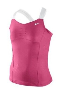 Nike Girls Pink/White Shrapova Tennis Top Size 8-10 Years