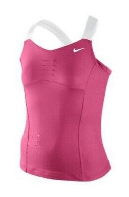 Nike Girls Pink/White Shrapova Tennis Top Size Girls 12-13 Years