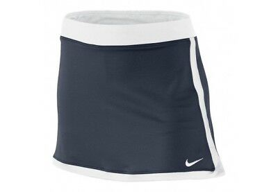 Nike Tennis Girls Border Navy Blue & White Skort Size L 12-13 Years RRP £27