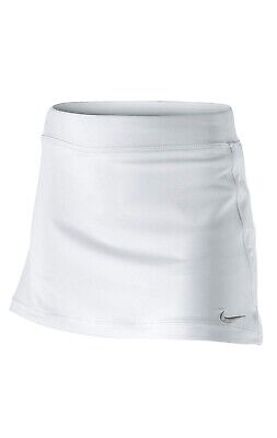 Nike Tennis Girls White/Matte Silver Skort Size M 10-12 Years RRP £27