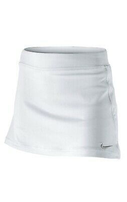 Nike Tennis Girls White/Matte Silver Skort Size XS 6-8 Years RRP £27
