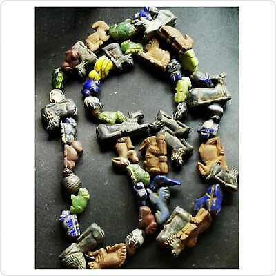 SALE 50 pcs !! Ancient Roman Lapis jade Agate jasper stones Animals Birds Beads