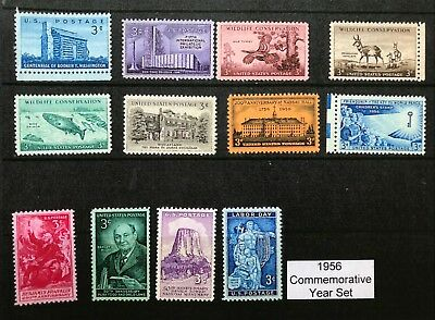 1956 US Commemorative Year Set (Complete) #1073-74, 1076-85, MNH  FREE SHIPPING
