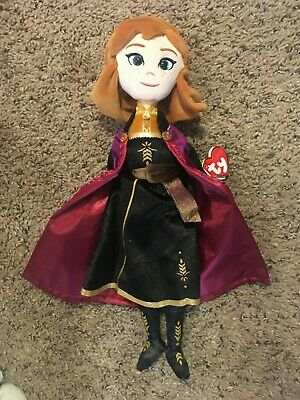 """Frozen 2 II 16"""" Tall Anna Doll Plush Ty Sparkle Beanie Babies Collection NEW NWT"""