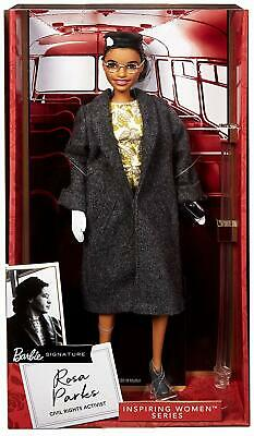 BARBIE Signature DOLL ROSA PARKS Inspiring Women Series Authentic Certificate
