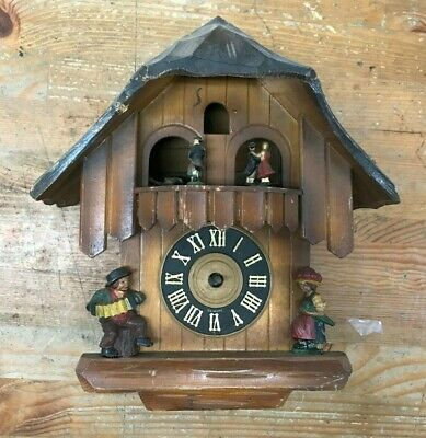 German Cuckoo Clock House Dancers  B100 150 Movement Parts or Repair