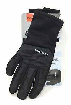 HEAD Men/'s Black Hybrid Sensatec Touchscreen Warm Fleece Lined Gloves Small NWT