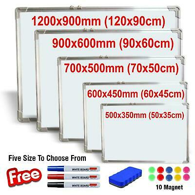 White Board Small Large Magnetic Whiteboard Wipe Dry Office Notice White boards