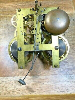 Old Sessions Clock Movement For Parts/Repair (Untested/Springs Good) (Lot K1219)