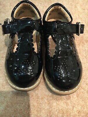 Girls Black Patent T Bar Mary Jane Party Shoes Size 5/22 Stunning Shoes zara