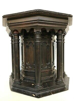 SALE!! Stunning Gothic Church Pedestal/ Stand/Console carved in wood ca 1900