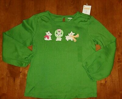 NWT Gymboree Girls Cheery All The Way Green Top Size 3-6-12-18-24M 2T 3T /& 4T