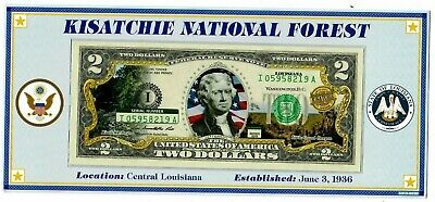 Kisatchie National Forest Louisiana ATB Enhanced $2 Bill Collection