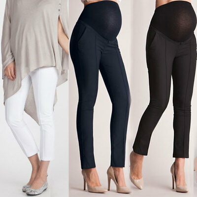 New Pregnant Women High Waist Pants Maternity Ladies Office Long Trousers Casual