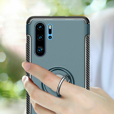 For Huawei P30 Pro P20 Lite P10 Ring Stand Holder Shockproof Rugged Case Cover