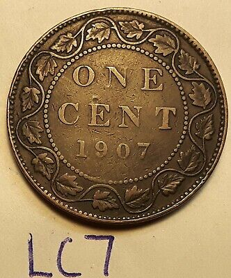 1907 Canada Large Cent Penny King EDWARD VII LC7b