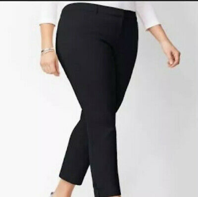 Talbots Black Capri Croped Pants 4