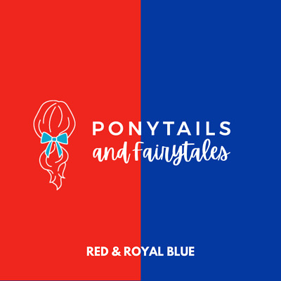 Red & Royal Blue Hair Accessories