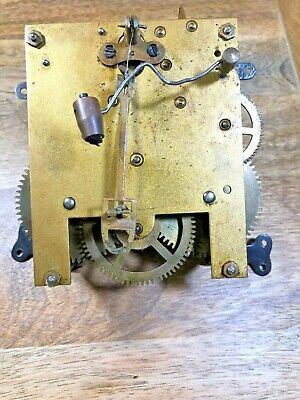 Old Unmarked (Junghans?) Clock Movement For Parts/Repair (Springs Good) (K1220)