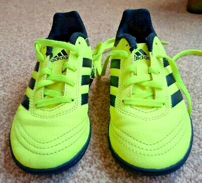Adidas Yellow Classic Leather Trainers Kids size 12 superb condition