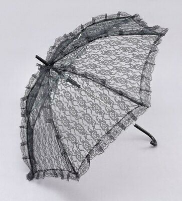 NEW Themed   20s Black Lace Parasol