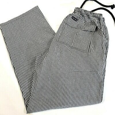 DNC Chef Pants Unisex Size Small Elastic Drawing Waist
