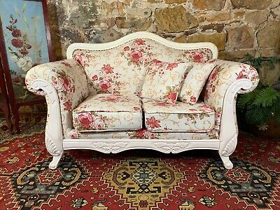 Stunning Vintage French Provincial 2 Seater Sofa~Lounge Chair-Hamptons~Floral