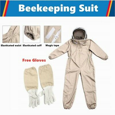 Bee Suit Full Beekeeping Suit Heavy Duty with Leather Ventilated Keeping Gloves
