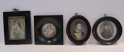19th & EARLY 20th CENTURY, Four Various Prints, PORTRAIT MINIATURES, all framed