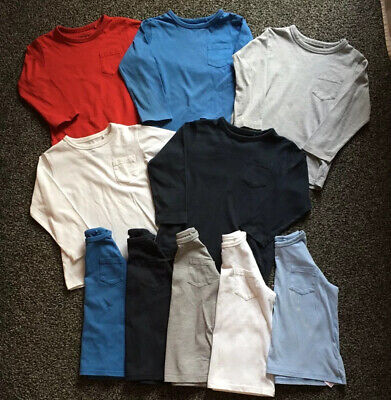 Boys Bundle Of 10 Long Sleeve Tops T-shirts - From Next - Age 2-3 Years