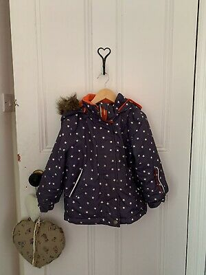 Boden Star Girls Autum/ Winter Coat Age 4/5 Years