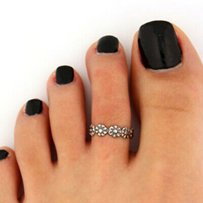 12Pcs/set Adjustable Retro Jewelry Silver Open Toe Rings HOT Foot Ring Fing B6A9