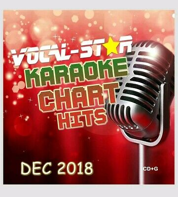 Vocal-Star Karaoke Disc  December  2018 Chart Hits 18 Songs Cdg Cd+G