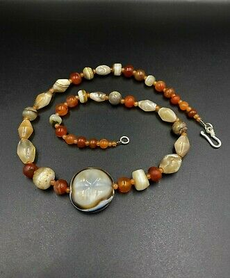 A very beautiful necklace with the finest selection of lukmik  bead and Agate