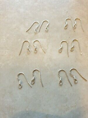 6 pairs  of  Stering Silver Ear Hooks