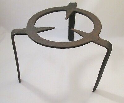 A Large Vintage Wrought Iron Fireside Stand / Trivet